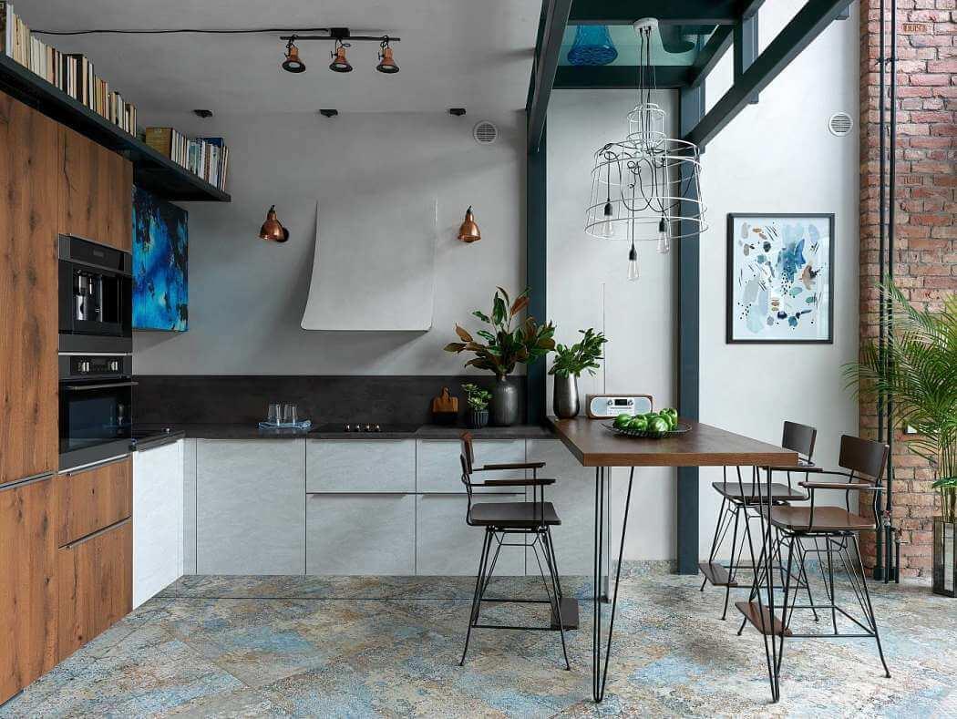 Diseño de interiores, cocina de apartamento tribeca