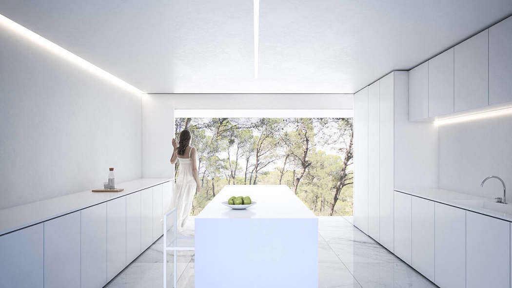 diseño de cocina minimalista fababu