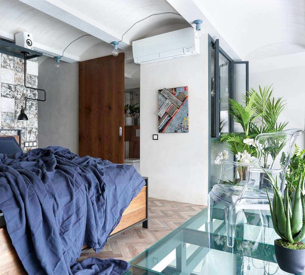 Diseño de interiores, dormitorio en apartamento de diseño
