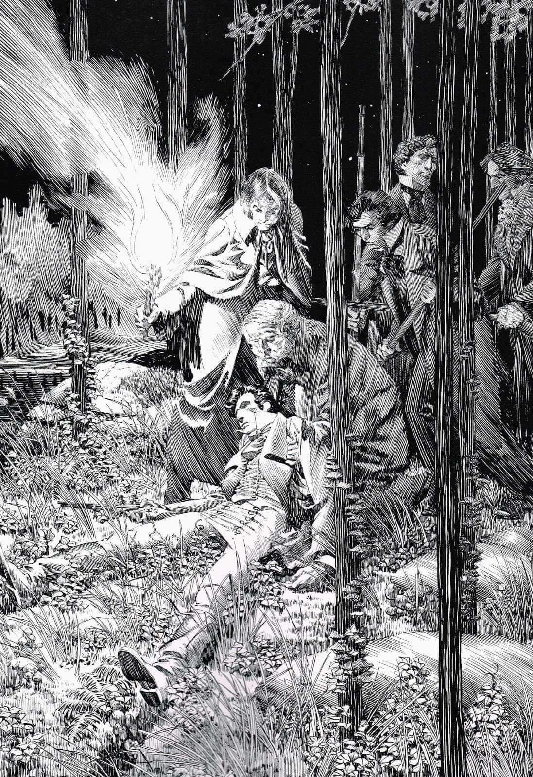 ilustración de frankstein de bernie wrightson