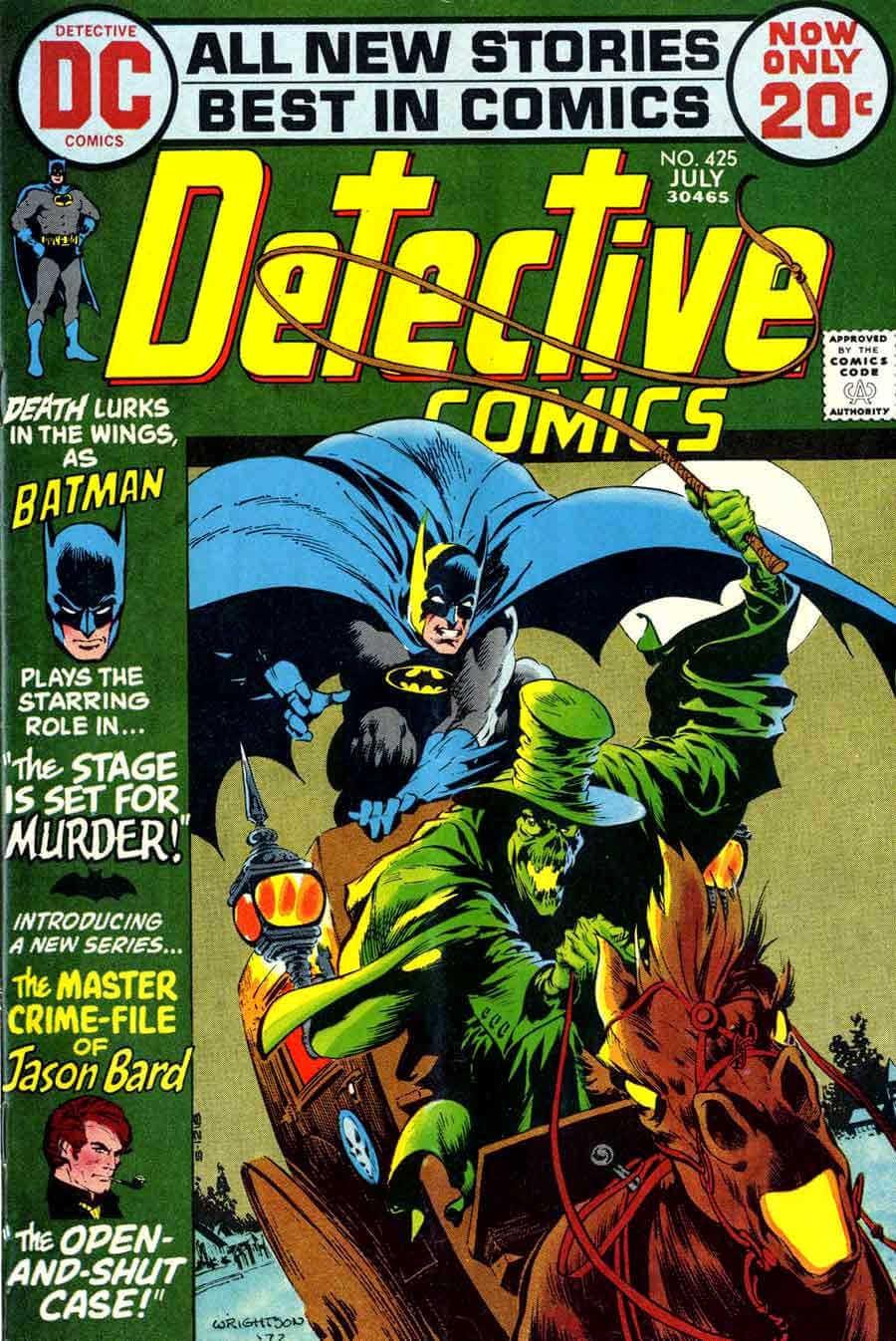 Portada de detective comics 425 por bernie wrightson