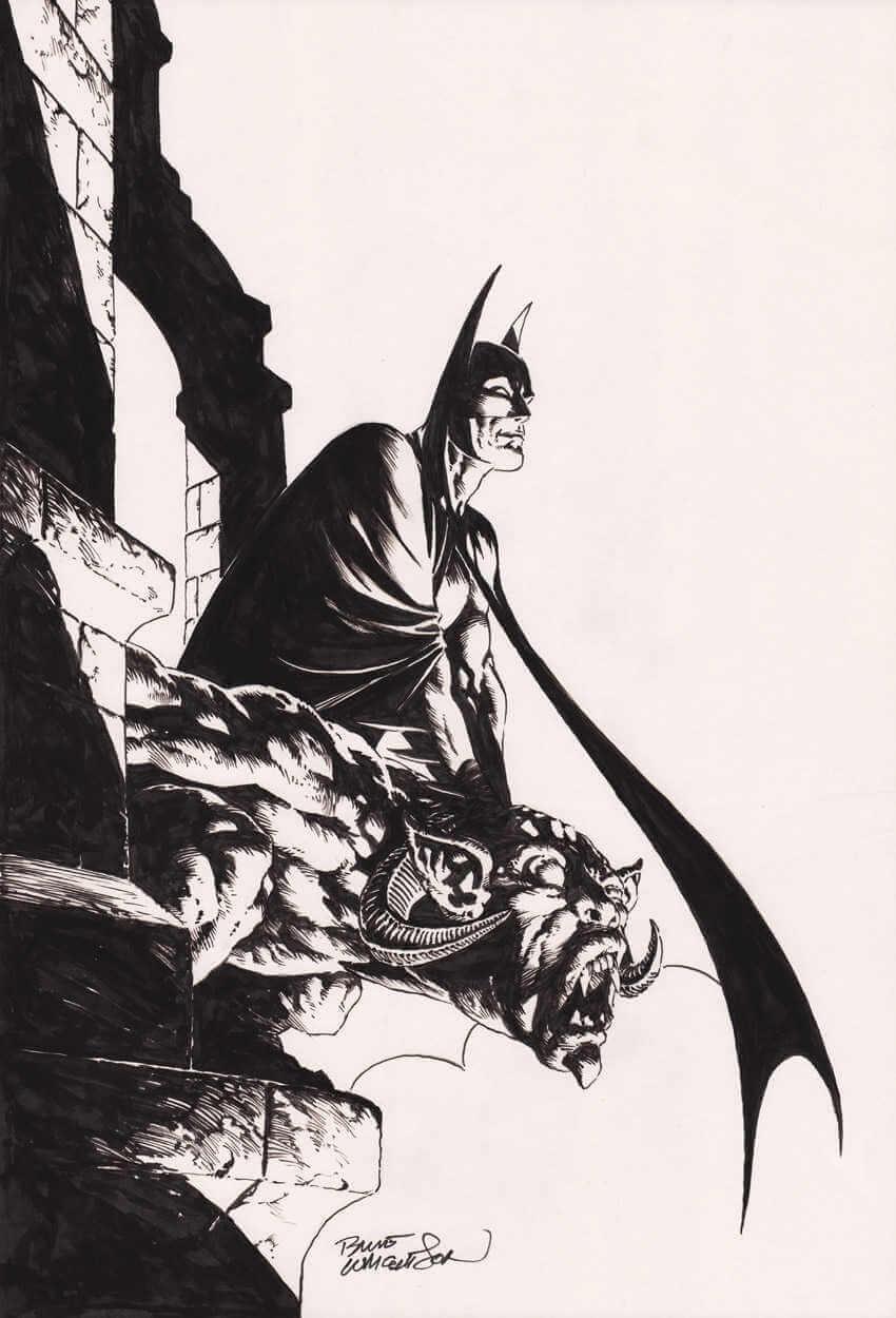 dibujo de batman hecho por Bernie Wrightson