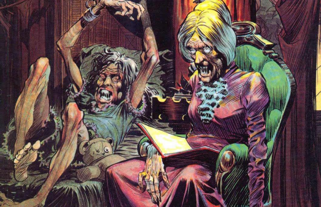 Ilustración de terror dibujada por Bernie Wrightson