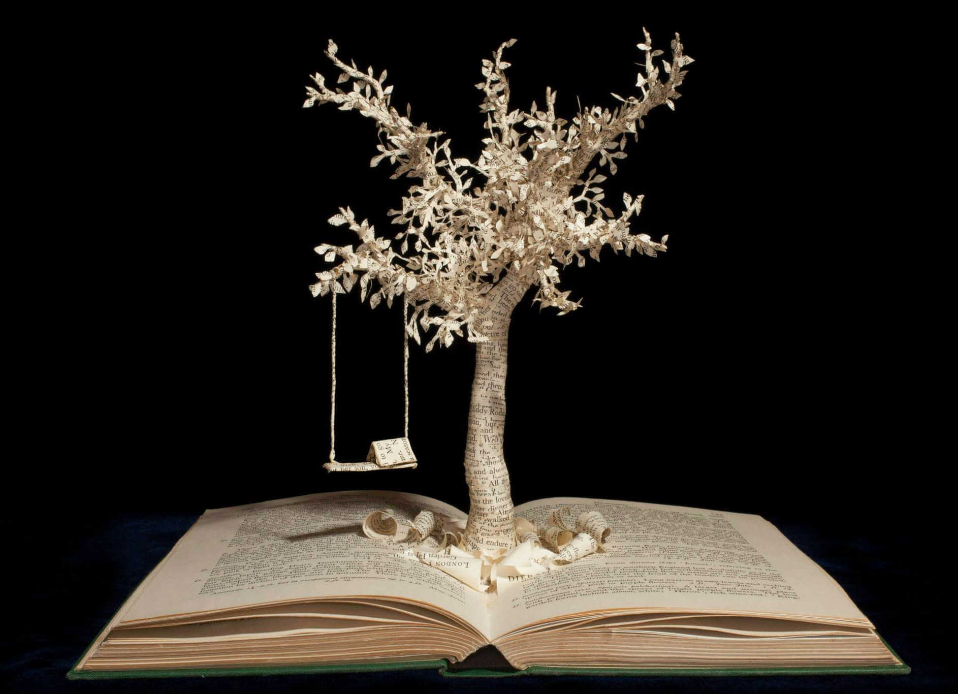 Manualidades con libro antiguo