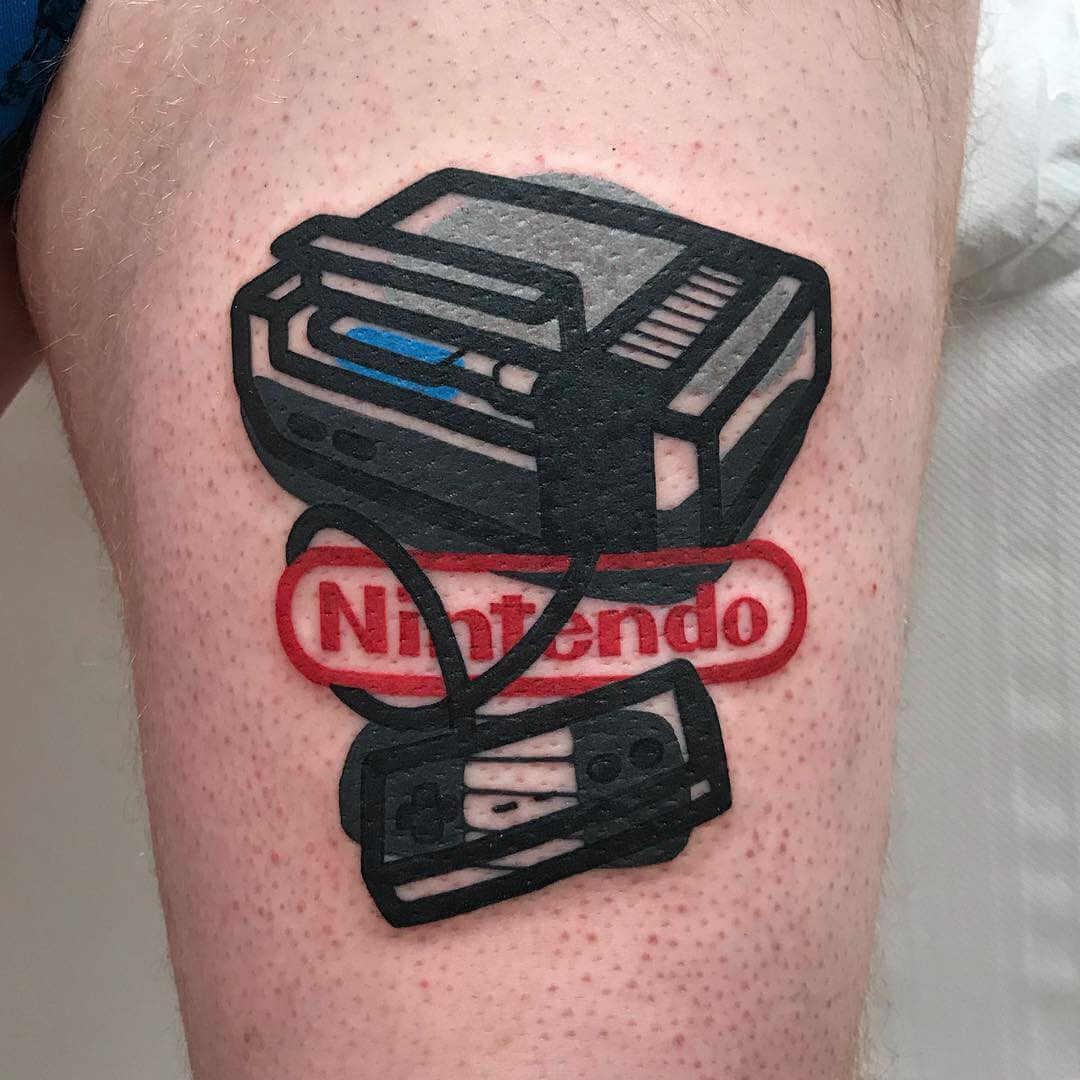 Tatuaje nintendo nes