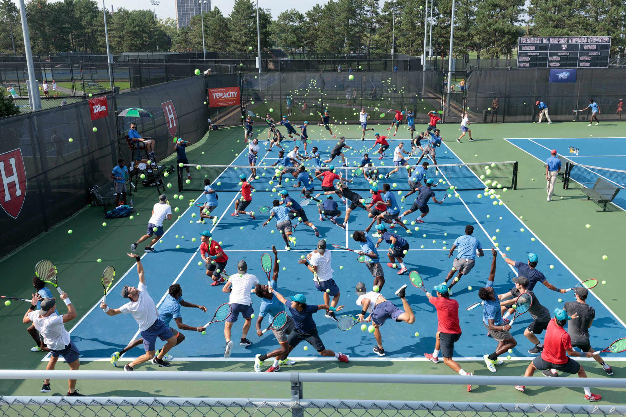 Tenis time lapse fotografia