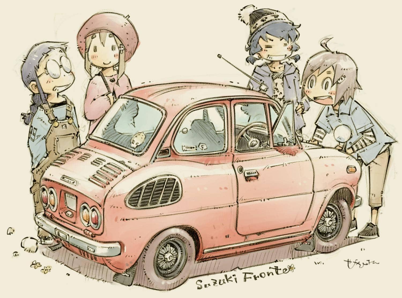 Coche suzuki fronter con estilo manga