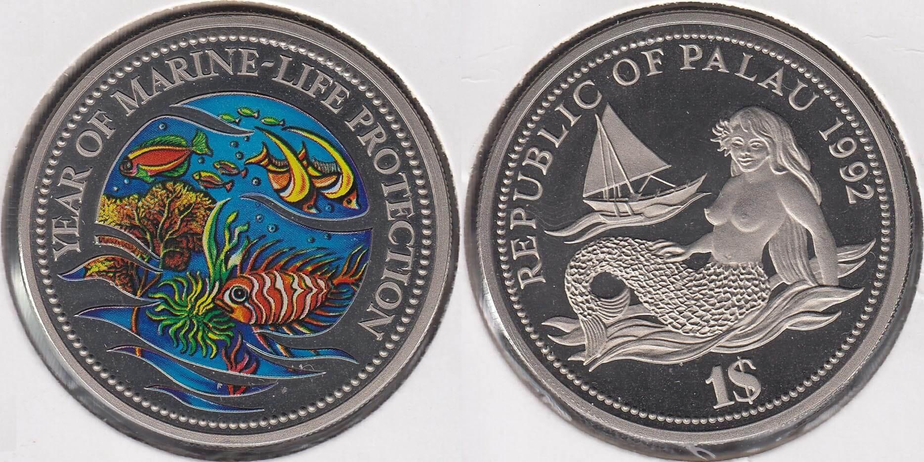 Moneda protección del mar Palaus