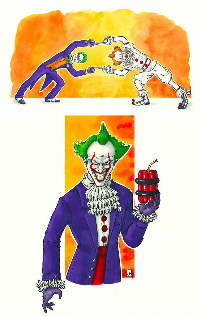 El Joker y Pennywise fusión cartoon