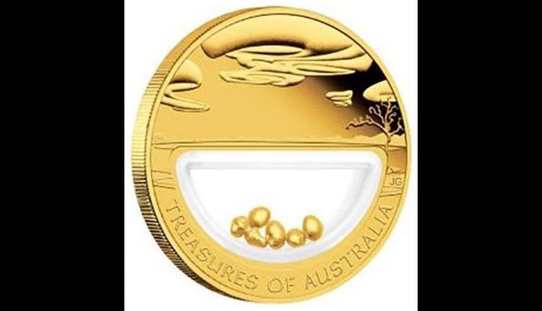 moneda con minerales australia