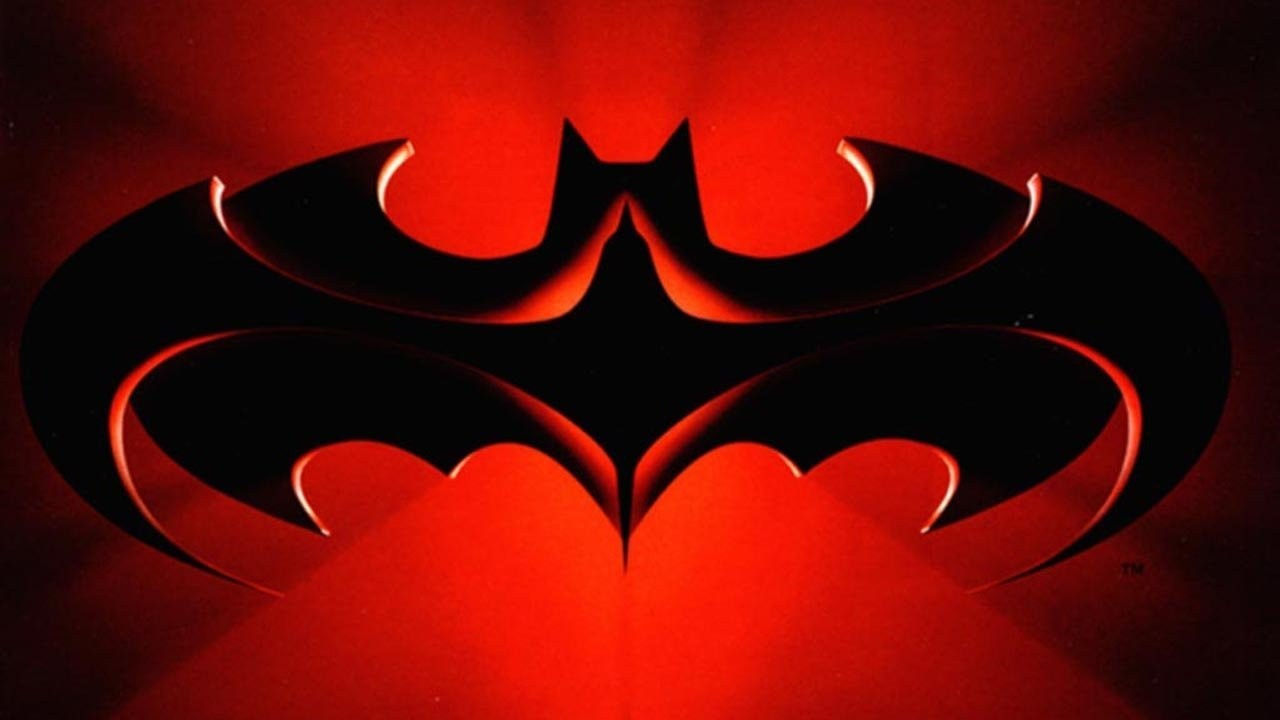 logotipo fondo rojo batman 1997