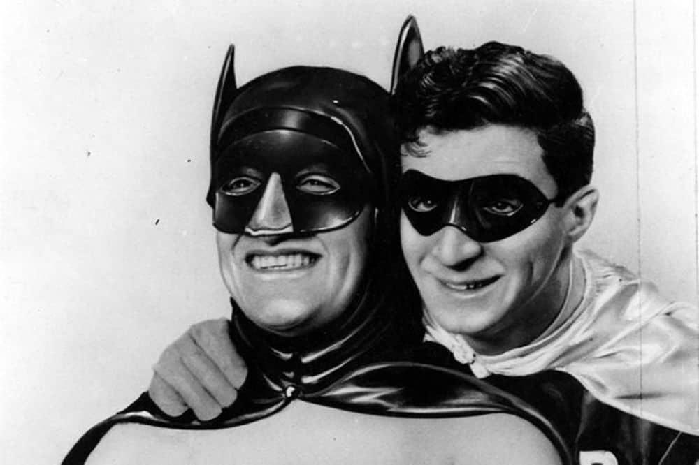BATMAN Y ROBIN blanco y negro