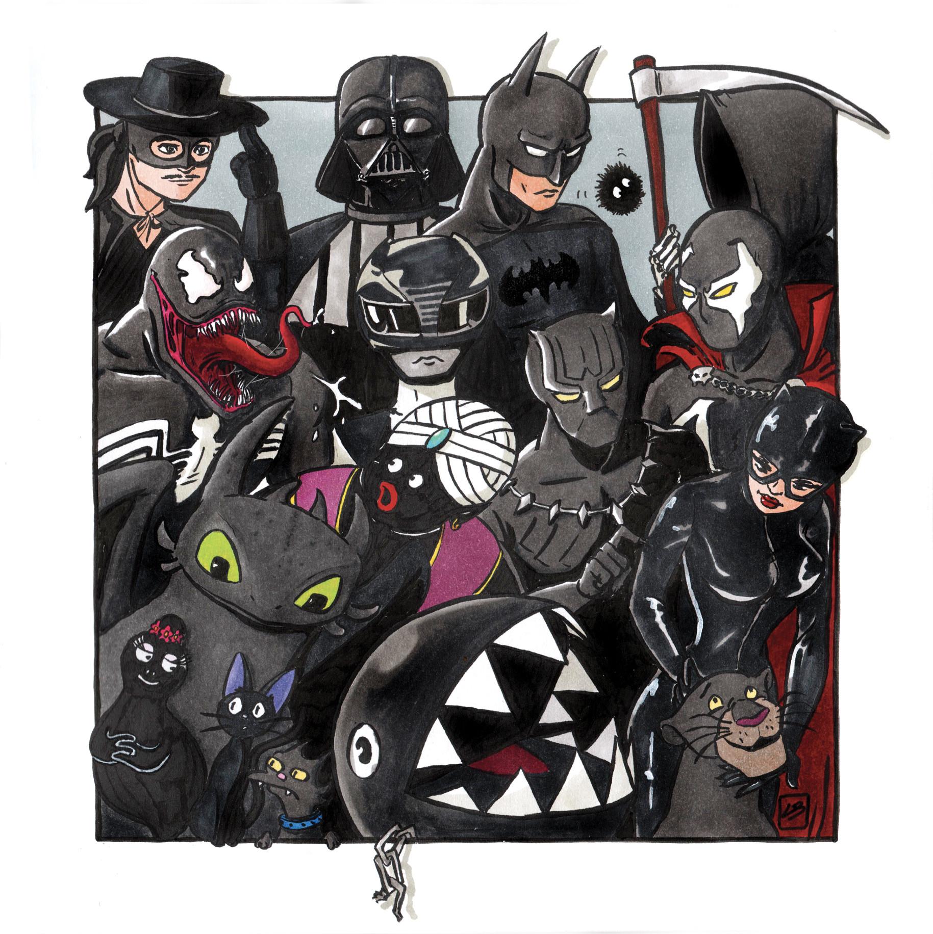 cartoons equipo negro