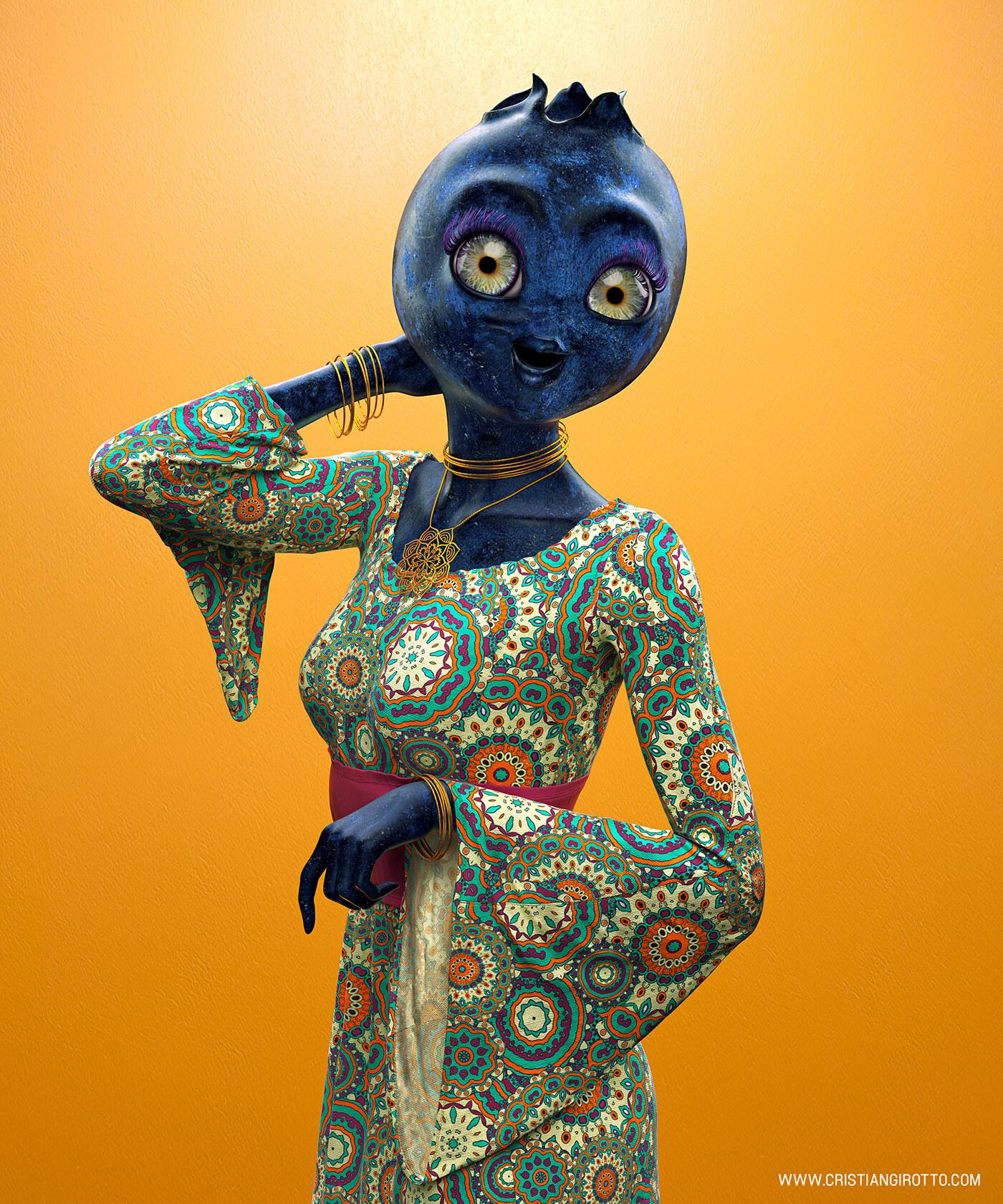 blueberry woman