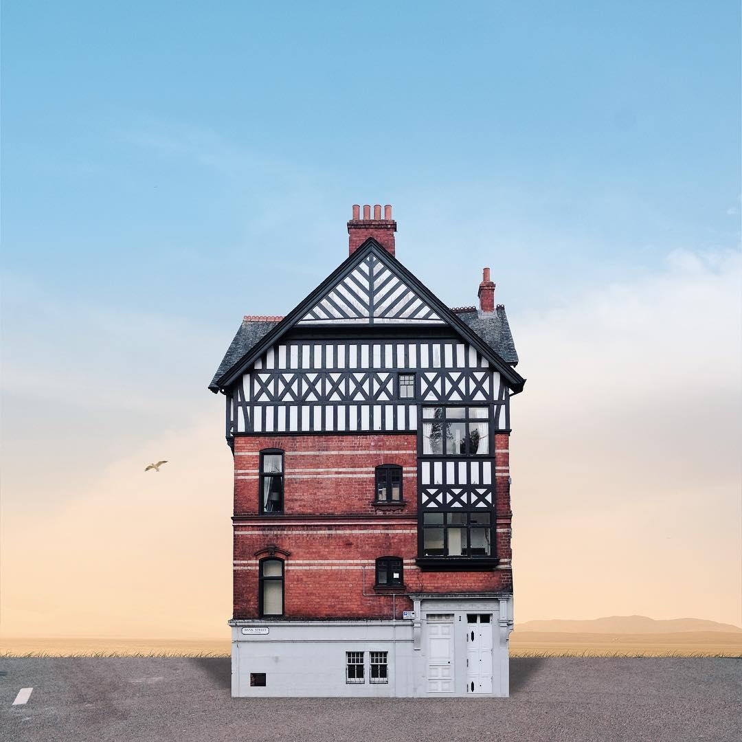 casa solitaria retoque fotográfico
