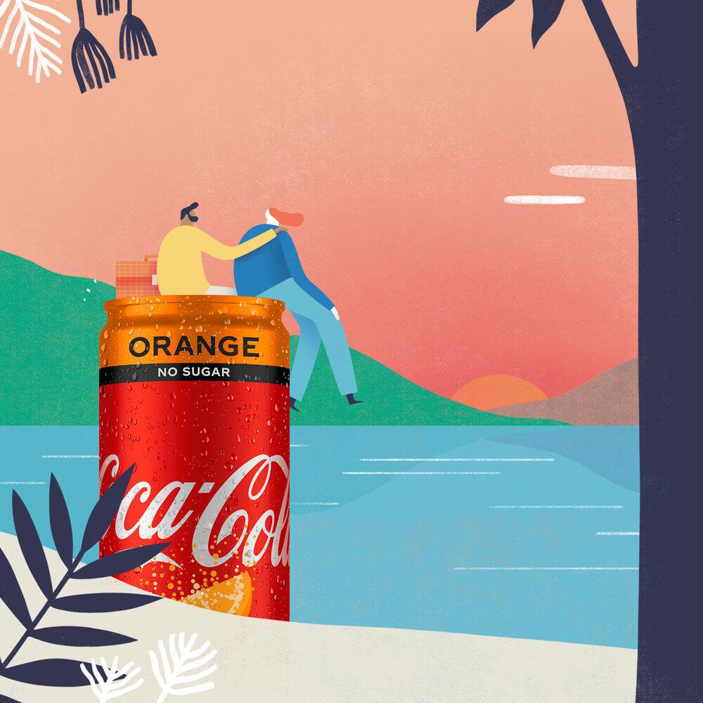 coca cola de naranja por mark conlan