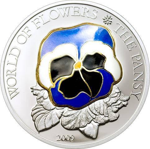 Moneda flor del pensamiento cook