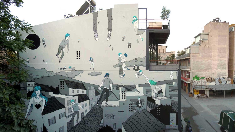 Comic convertido en graffiti