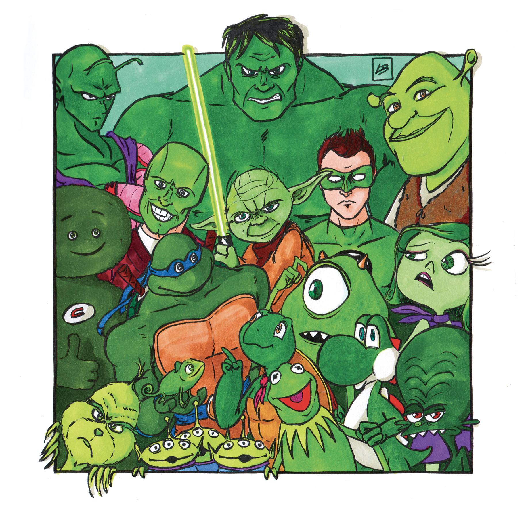 personajes cultura pop verdes