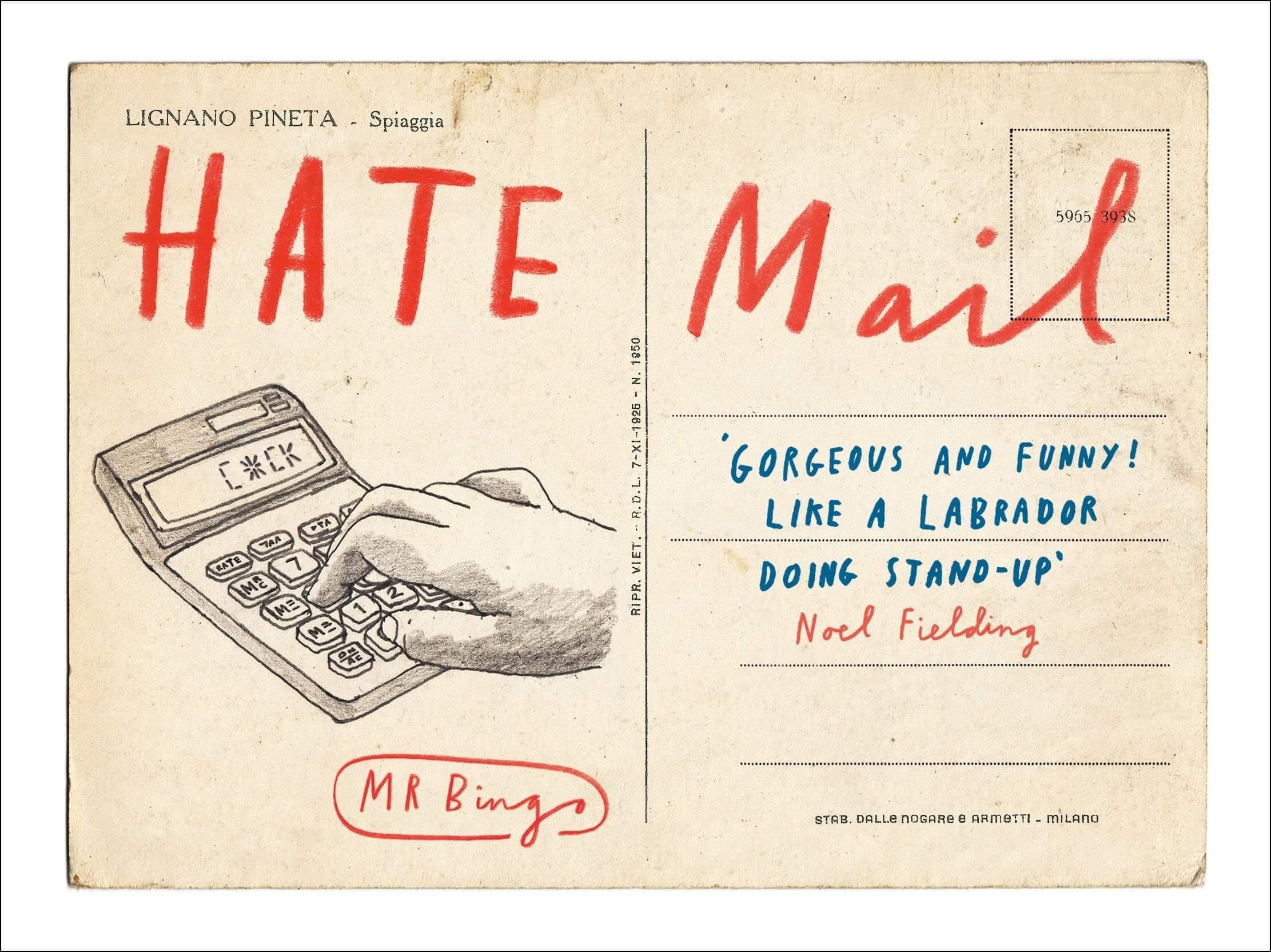 Hate Mail el proyecto de postales por correo de Mr Bingo