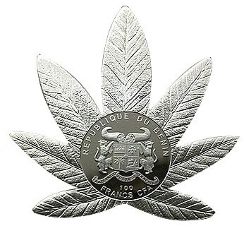 Hola de cannabis moneda