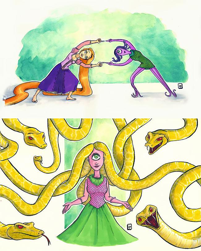 fusión de personajes cartoons
