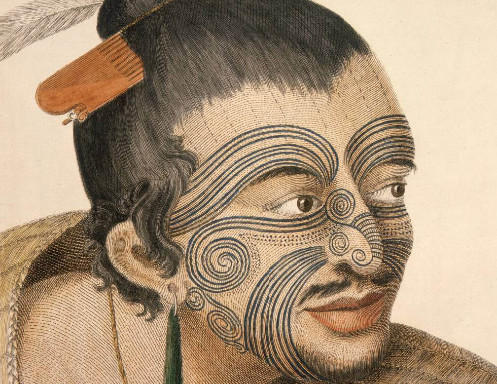 tattoo maorí face