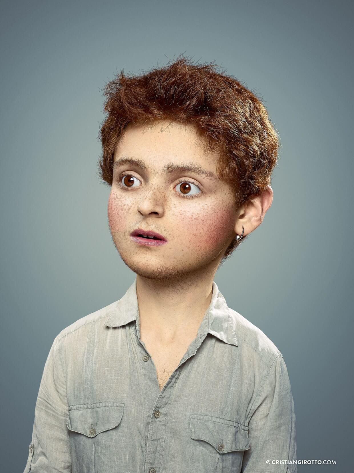 Niño con pecas Cristian Girotto