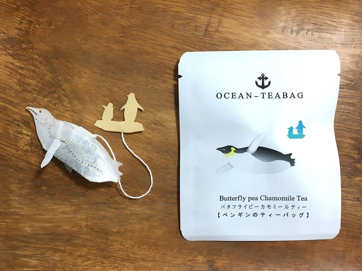 ocean tea bag pinguino