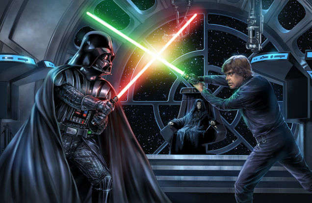 pelea like skywalker y darth vader