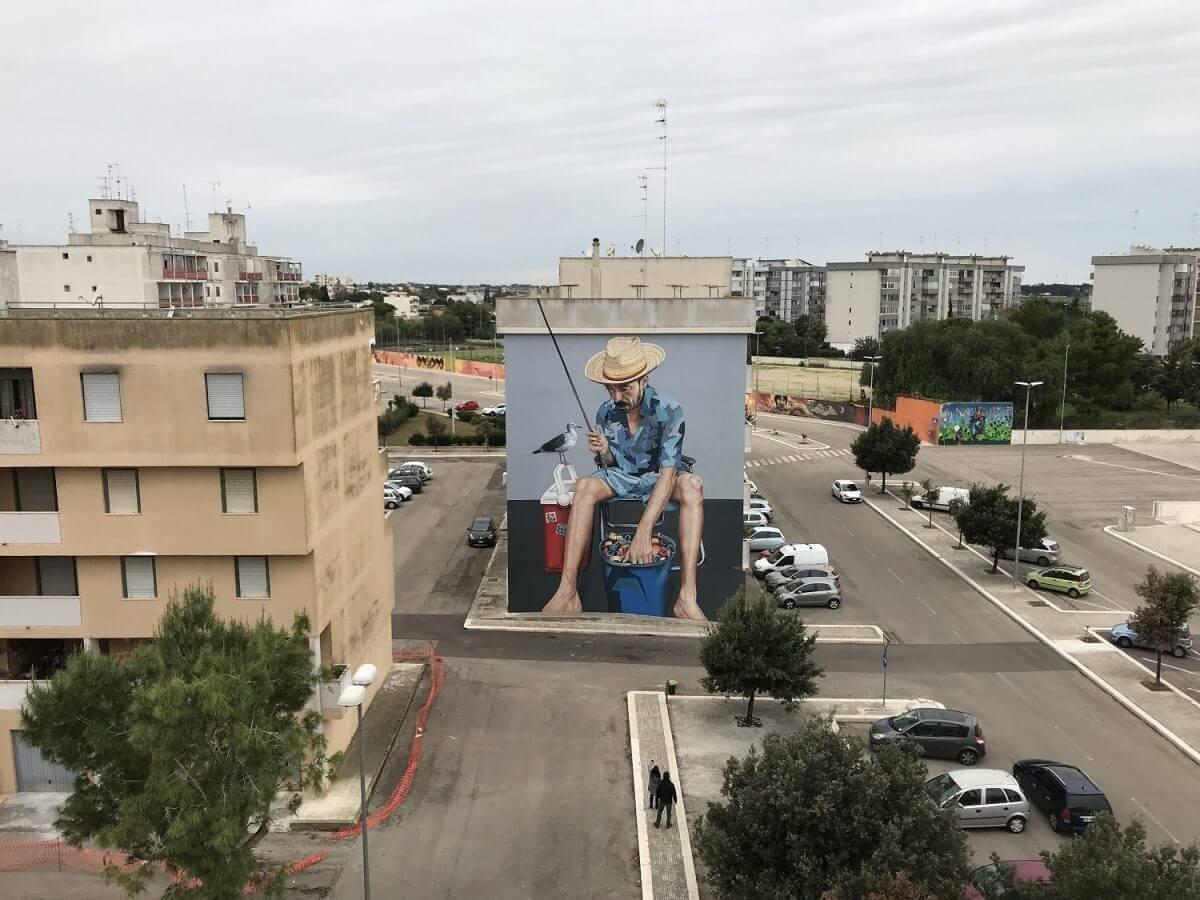 Graffiti pesador Dimitris Taxis