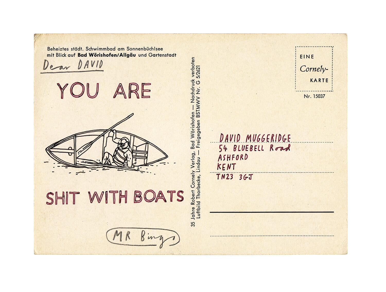 Insultos en postales ilustradas por Mr. Bingo