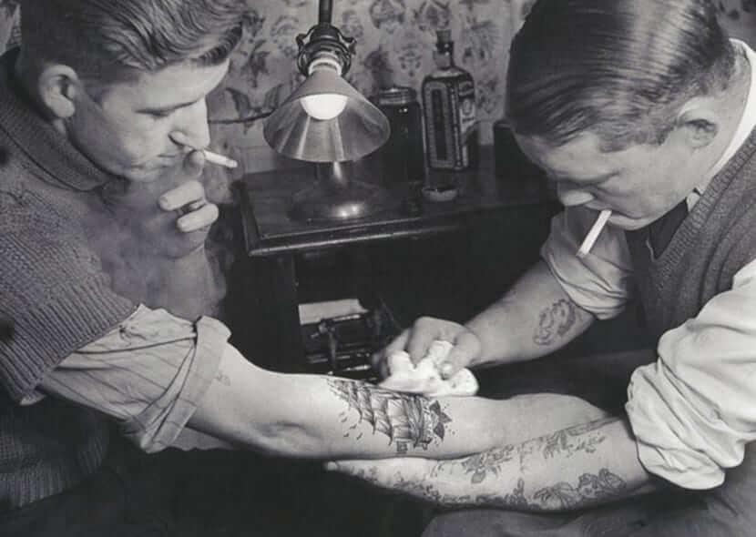 primeros tatuajes marineros oldschool