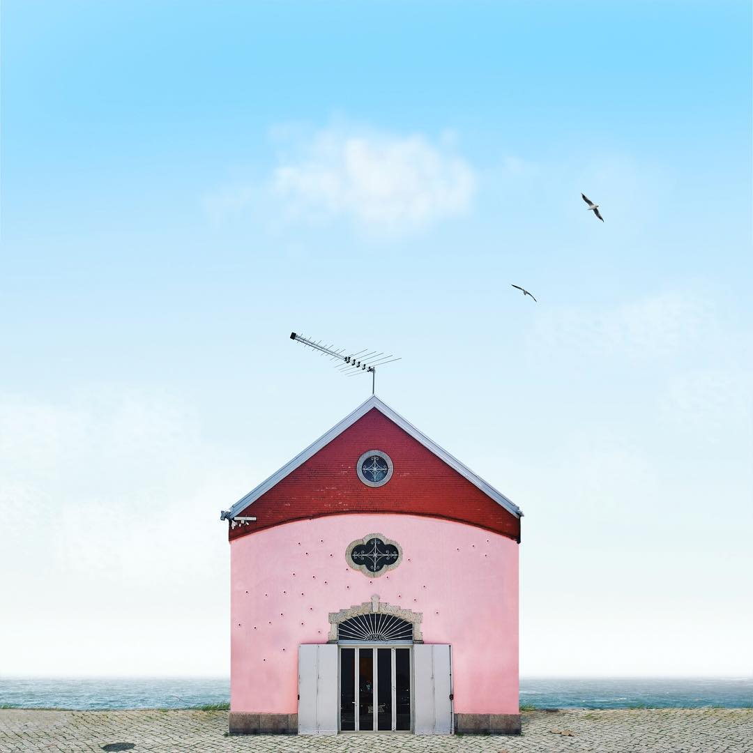 retoque de fotografía casa solitaria