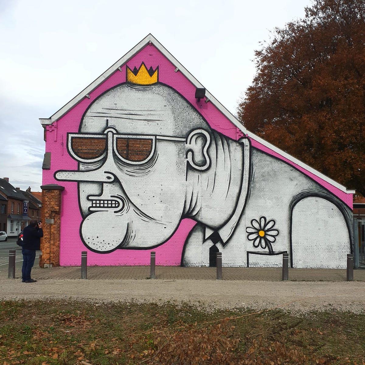 hombre street art joachim