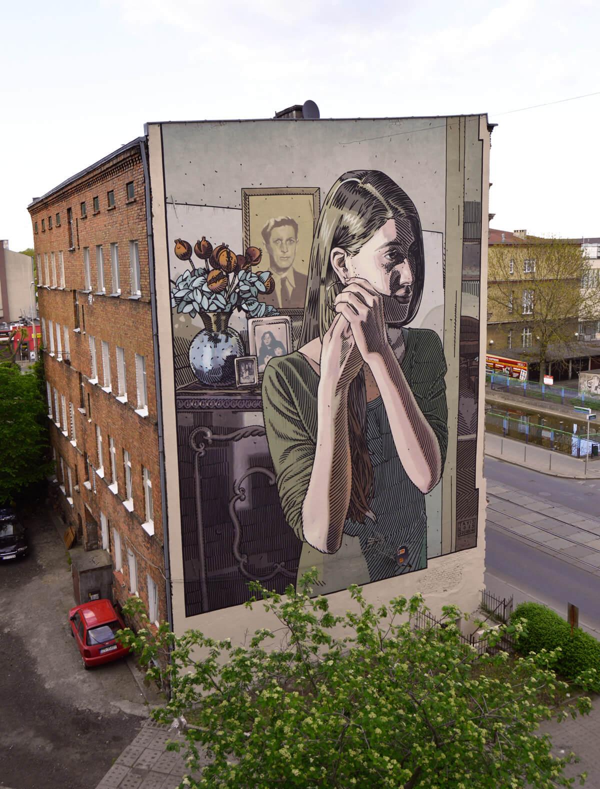 Graffiti cómic de Dimitris Taxis