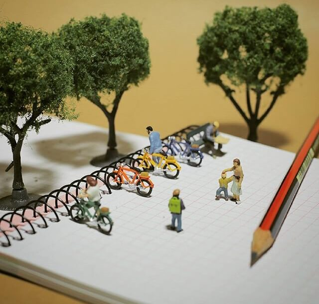 una pequeña gran idea de estacionamiento para bicicletas