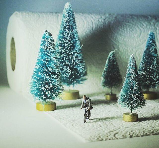 el invierno se acerca con una idea diminuta