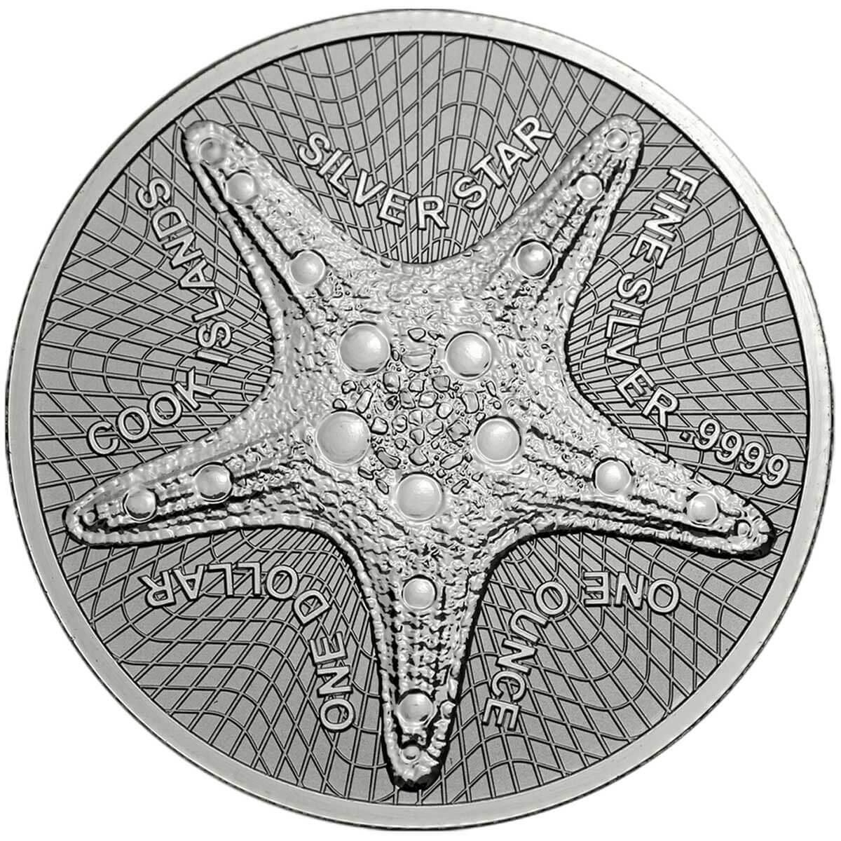moneda estrella de mar islas cook