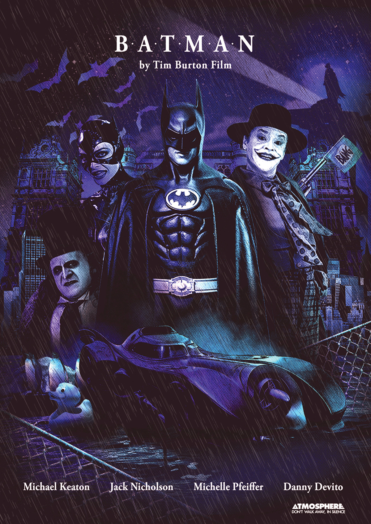 poster tim burton batman