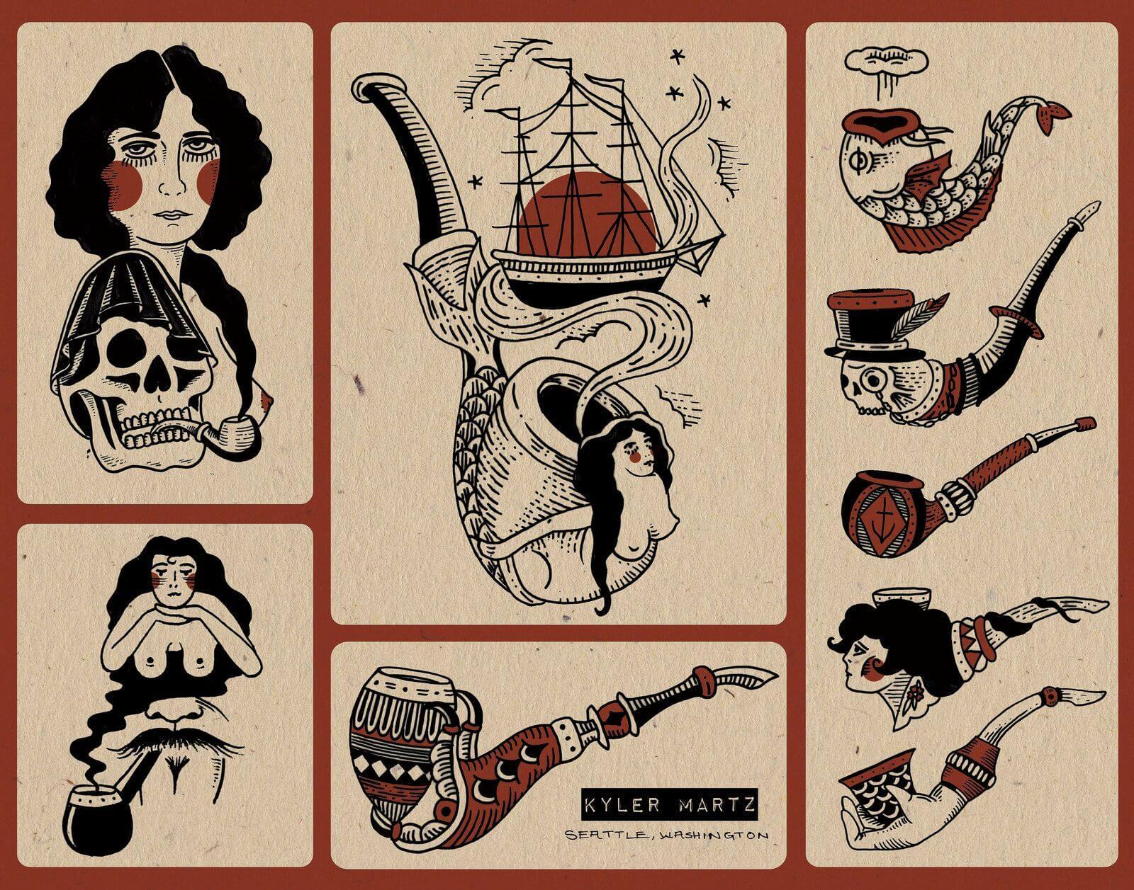 varios tattoos kyler