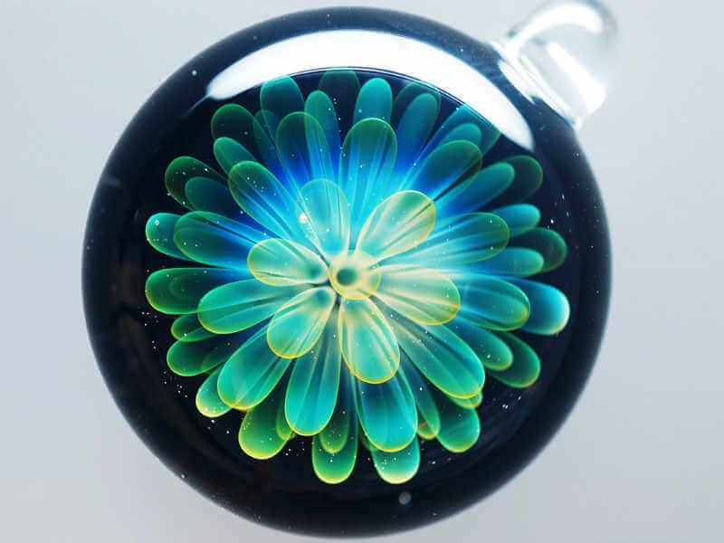 flor dentro de cristal