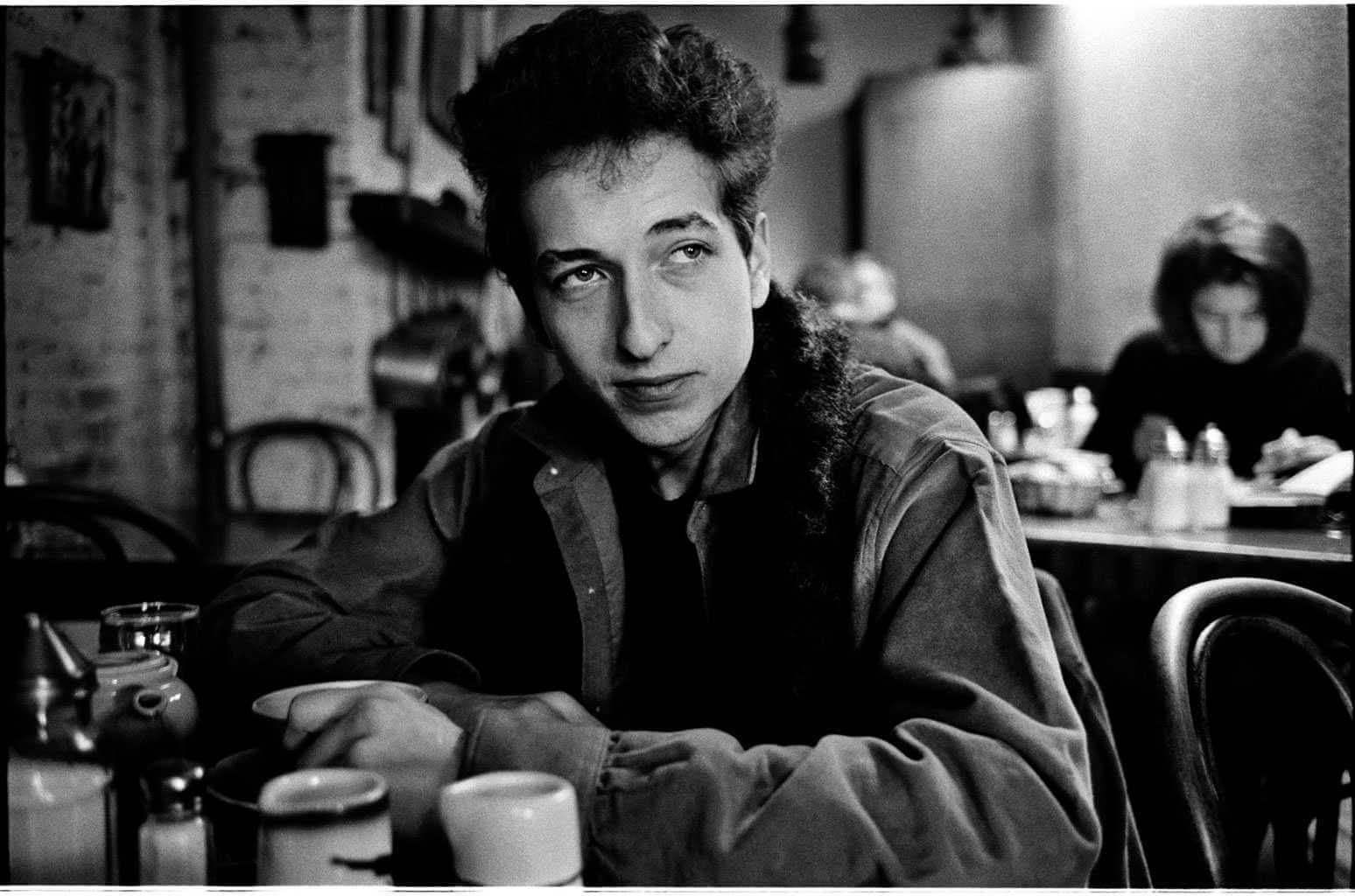 Bob Dylan fotografiado por JIm Marshall