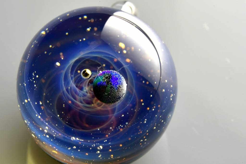 arte esculpido dentro de cristal de murano