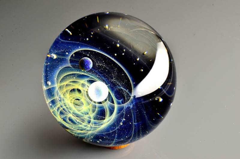 sistema solar en cristal de murano