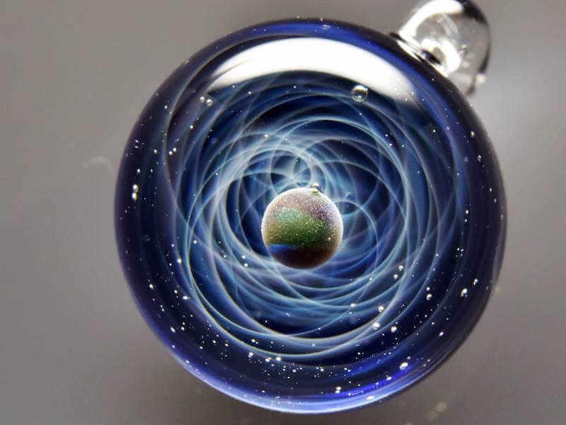 preciosa esfera de cristal de murano