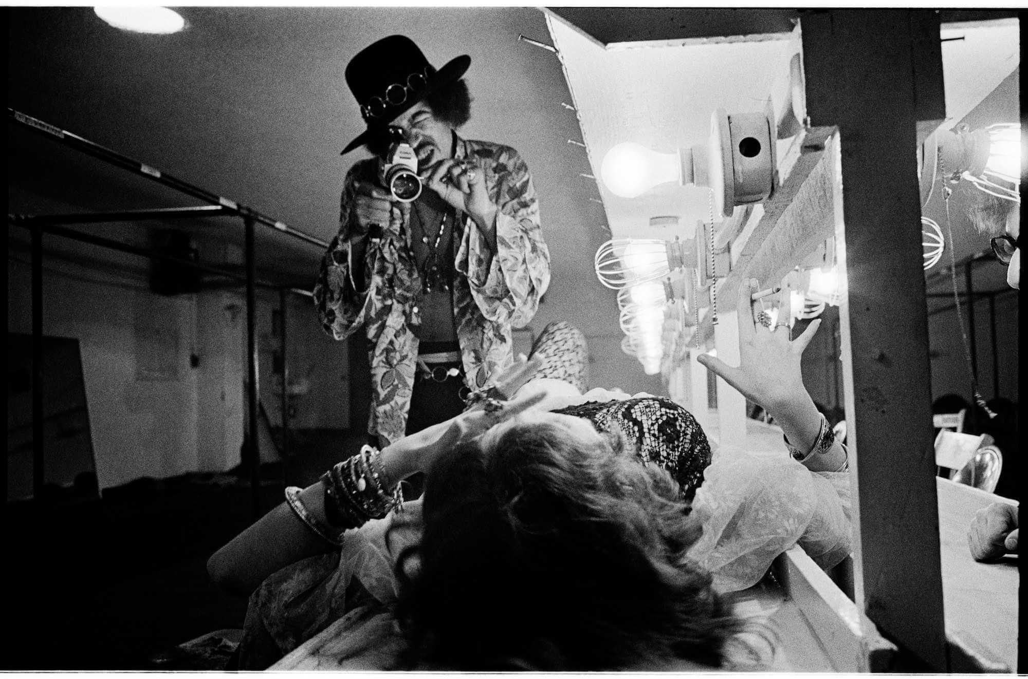 Jimi Hendrix y Janis Joplin