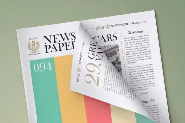 mock up gratis de periodico