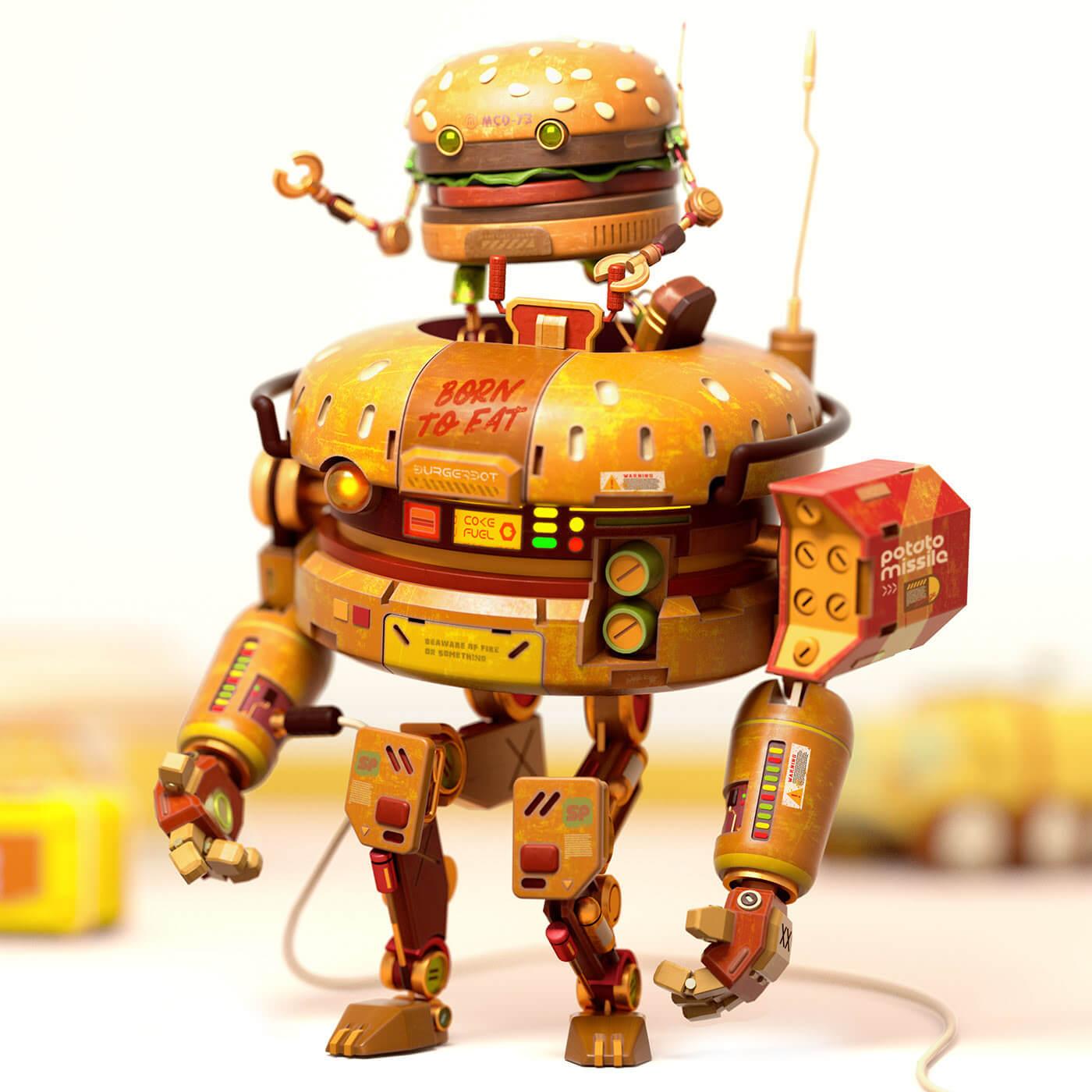 ROBOT BURGER TOYODA BORN TO FAT