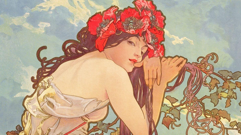 erotismo del art nouveau musas